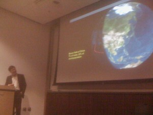 Dean Kongjian Yu pointing out the massive brownfields of China
